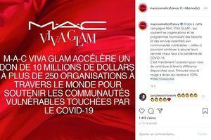 Coronavirus : M.A.C Cosmetics fait un don de 10 millions de dollars via sa campagne Viva Glam