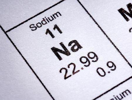Sodium Na+ et eau minérale