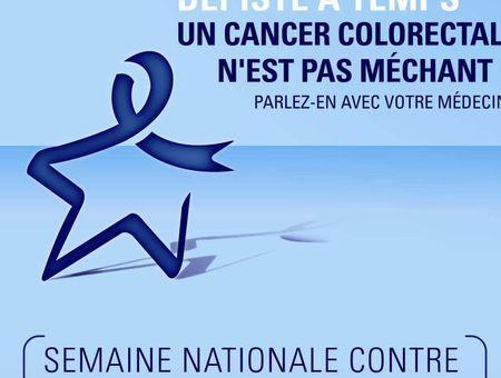 Semaine nationale contre le cancer colorectal