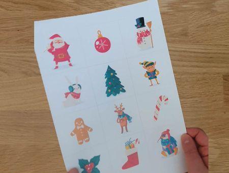 DIY -  Fabriquer un memory spécial Noël