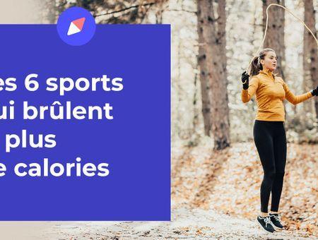 Les 6 sports qui brûlent le plus de calories