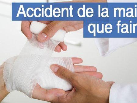 Accident de la main : que faire ?