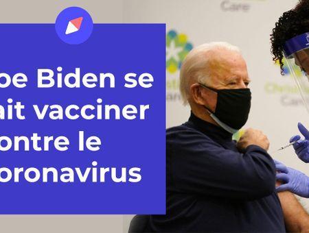 Joe Biden se fait vacciner contre le coronavirus