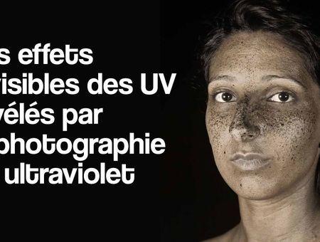 Les effets invisibles des UV révélés par la photographie en ultraviolet