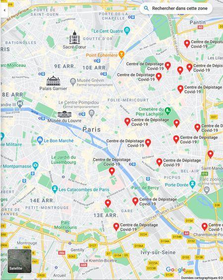 Comment afficher les centres de dépistage de la Covid-19 près de chez soi sur Google Maps
