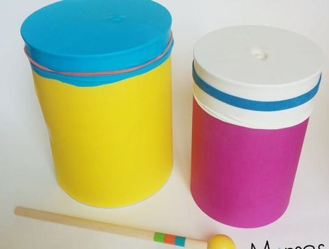 Un tambour avec une boîte de conserve - DIY : 10 jouets pour bébé à fabriquer soi-même