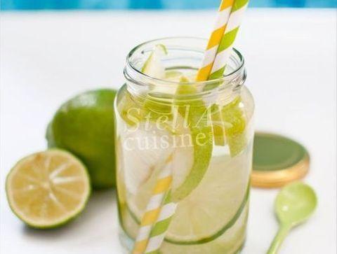Detox water pomme granny, citron vert - Detox water : 10 idées de recettes pour un corps sain