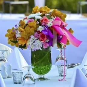 Bouquet centre de table mariage