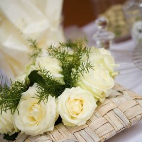 Centre de table mariage naturel