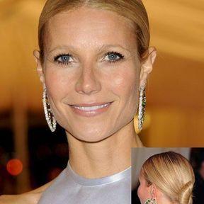 Le chignon classique revisité de Gwyneth Paltrow