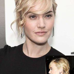 Le chignon moderne de Kate Winslet