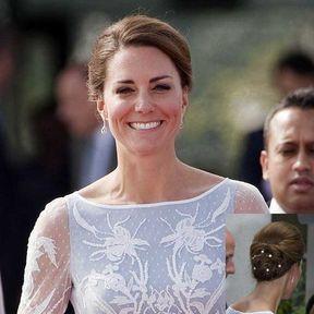 Le chignon perlés de Kate Middleton