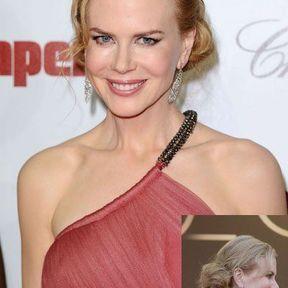 Le chignon tresse de Nicoles Kidman