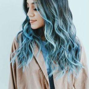 Cheveux longs coloration