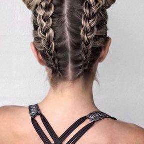 Les braids avec chignons
