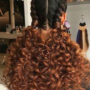 Coupe cheveux bouclés