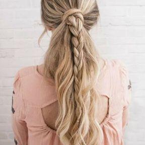 Tresse sur cheveux longs