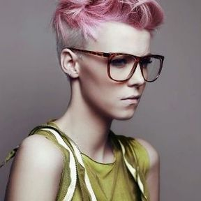Coupe courte rose