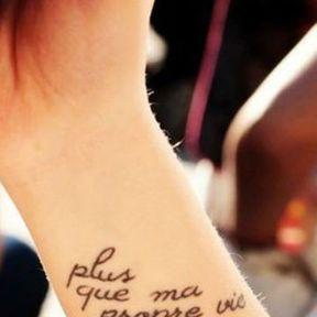 Tatouage phrase en français