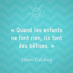 Citation sur la maternité de Henri Fielding