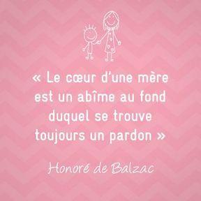 Citation sur la maternité de Honoré de Balzac
