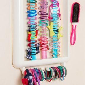 DIY rangement accessoires pour cheveux