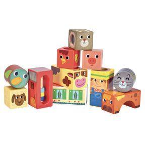 Cubes sonores Animaux de la ferme, Vilac