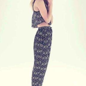 Pantalon imprimé New Look printemps été 2014