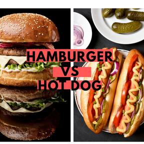 Calories : Hamburger vs hot-dog