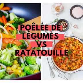 Calories : Poêlée de légumes du soleil vs ratatouille