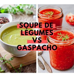 Calories : Soupe de légumes verts vs gaspacho
