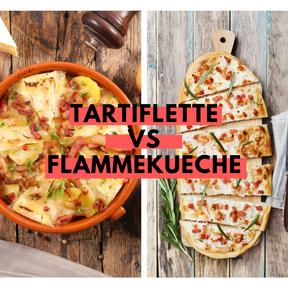 Calories : Tartiflette vs flammekueche