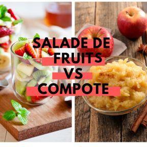 Calories : Salade de fruits vs compote