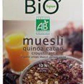 Muesli quinoa et cacao croustillant Jardin Bio
