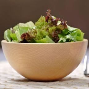 La salade verte est très riche en vitamines