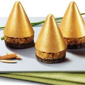 Minis sapins dorés au bloc de foie gras 2014, Thiriet