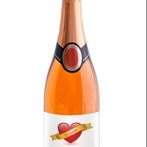 Bouteille de champagne rosé Vallet Gadret personnalisable, mabouteille.fr, 2019