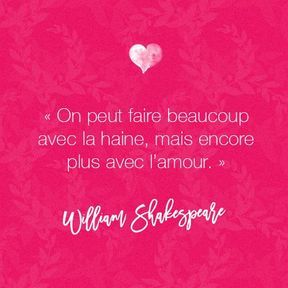 Citation amour de William Shakespeare