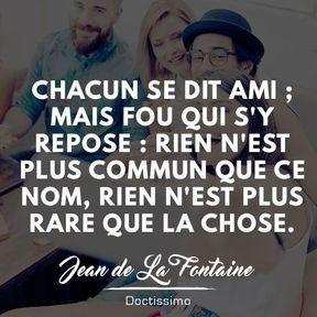 Citation amitié de Jean de La Fontaine