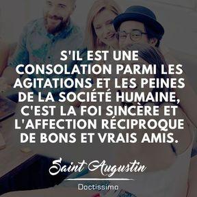 Citation amitié de Saint-Augustin