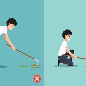 La bonne posture pour jardiner/bricoler