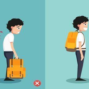 La bonne posture pour porter un sac à main/sac à dos