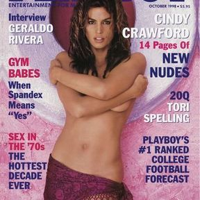Sensuelle Cindy Crawford. Octobre 1998