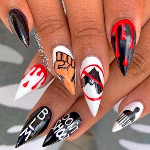 Des nail arts créatifs en soutien au mouvement Black Lives Matter